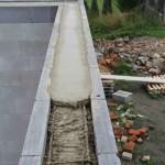 zalití věnce betonem
