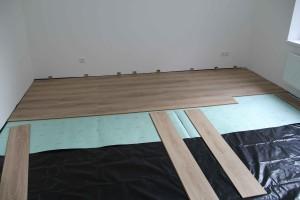 skladba plovoucí podlahy